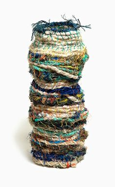 'Ghost Net' weaved vessels from the Darnley Island Arts Centre, via Pieces of Eight.