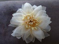 Цветок из органзы (Мастер класс)/Organza Flower ❤ https://www.youtube.com/watch?v=yTHlFY5Hzdc
