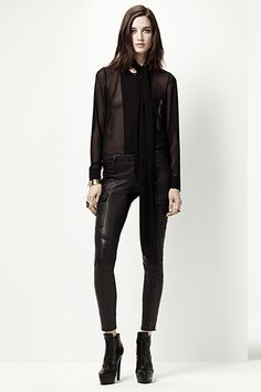 Holiday Leather: J Brand Leather Houlihan Cargo Skinny   #JBRANDHoliday #WMag
