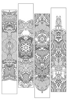 Boekenlegger 202 - Anderson Ranch Print by Joshua Davis, via Behance Coloring Book Pages, Coloring Sheets, Printable Coloring, Line Drawing, Doodle Art, Bookmarks, Doodles, Scrapbook, Prints
