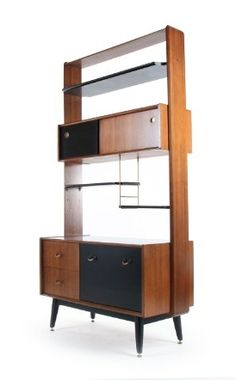 V.B. Wilkins; Afromosia and Ebonized Wood 'Tola and Black' Storage Unit for G-Plan, 1950s. Via Mr. Bigglesworthy.