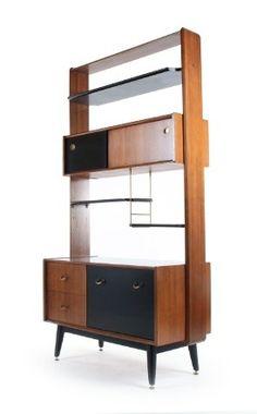 V.B. Wilkins; Afromosia and Ebonized Wood 'Tola and Black' Storage Unit for G-Plan, 1950s. Via Mr. Bigglesworthy.