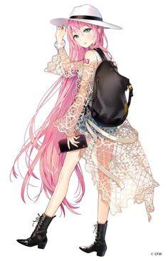 No larger size available Pink Hair Anime, Anime Girl Pink, Anime Girl Hot, Pretty Anime Girl, Beautiful Anime Girl, Manga Girl, Anime Art Girl, Oc Manga, Manga Anime