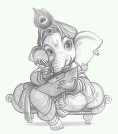 Bal Ganesha/ cute elephant