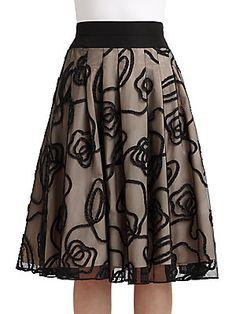 Lafayette 148 New York Pleated Tulle Skirt