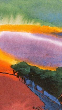 Emil Nolde「Landscape(Red-Yellow-Green)」