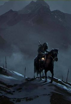 Fantasy Art Engine Alone in the Mountains by Daria Rashev Fantasy Male, Dark Fantasy, Fantasy Story, Fantasy Warrior, Medieval Fantasy, Sci Fi Fantasy, Fantasy World, Dungeons And Dragons, Witcher Wallpaper