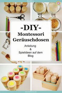 DIY: Montessori Geräuschdosen (Anleitung & Spielideen - Bayb About Diy Montessori Toys, Montessori Toddler, Montessori Kindergarten, Diy Bebe, Infant Activities, Diy Toys, Diy Crafts For Kids, Craft Ideas, Educational Toys