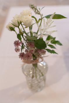 prettywedding.fr - bouquet table mariage