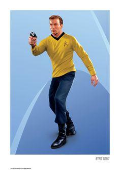 Star Trek Celebrate Shatner's B'day with Kirk Art Prints Star Trek 1966, New Star Trek, Star Trek Tv, Star Trek Movies, Star Wars, Star Trek Posters, James T Kirk, Look Star, Paddy Kelly