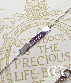 Personalised jewellery to love and treasure. Engrave initials, dates or your personal message to necklaces, bracelets or pendants. Personalised Jewellery, Initials, Arrow Necklace, Silver Jewelry, White Gold, Pendants, Chain, Bracelets, Stuff To Buy
