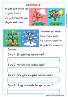 Turkish Lessons, Learn Turkish Language, Cute Calendar, Learning Arabic, Stories For Kids, Primary School, Special Education, Preschool Activities, Kids And Parenting
