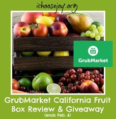 Grubmarket California Fruit Bounty Review and Giveaway Ends tonight! 2/6/16