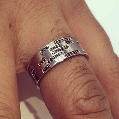 Out of the ordinary: a bespoke binary code wedding band