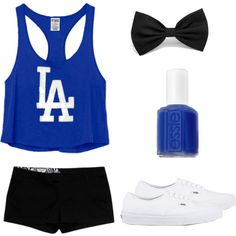 """""""Dodgers Fan Outfit"""" by saladtopping on Polyvore"""