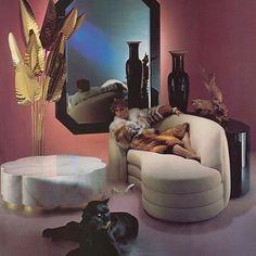 retro home decor Outrageous Interior Design amp; Home Decor Of The 80s Interior Design, 1980s Interior, Estilo Interior, Pastel Interior, Interior Sketch, Interior Styling, Classic Home Decor, Retro Home Decor, Home Decor Styles