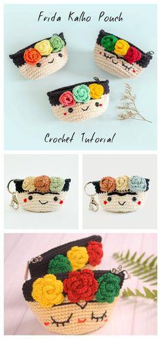 How To Crochet Frida Kalho Pouch How To Crochet Frida Kalho Pouch,Crafty How To Crochet Frida Kalho Pouch Related posts:Women Summer Dress Free Crochet Patterns - CrochetHerrenschuhe - CrochetMake a Cozy Ear Warmer -. Crochet Coin Purse, Crochet Pouch, Crochet Purses, Crochet Gifts, Cute Crochet, Crochet Dolls, Doilies Crochet, Crochet Earrings, Easy Knitting Projects