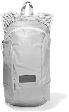 ad774598972 Adidas by Stella McCartney - Reflective Shell And Mesh Backpack - Light gray