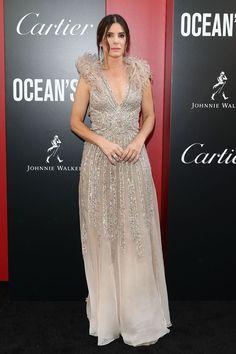 Sandra Bullock in Elie Saab Blush Dresses, Prom Dresses, Formal Dresses, Sandra Bullock, Sandro, Elie Saab, Celebrity Red Carpet, Celebrity Style, Gray Dress