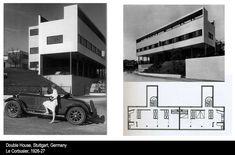 corbusier hand car advertisement - Google Search Double House, Car Advertising, Le Corbusier, Photo Wall, Floor Plans, History, Stuttgart Germany, Building, Siamese