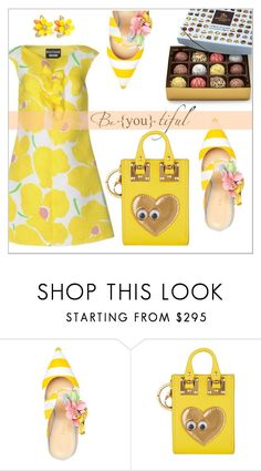 """Be - you - tiful"" by elli-argyropoulou ❤ liked on Polyvore featuring Giannico, Sophie Hulme, floral, Flowers, sandals and yellowdress"