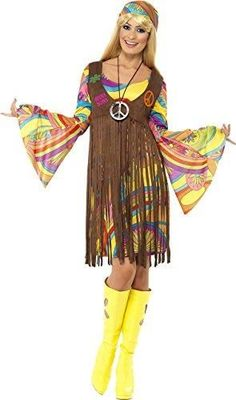 1960s Hippie Dude 2-3 Boys Fancy Dress 60s Hippy Kids Child Costume Outfit 70s