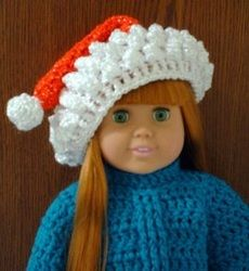 """18"""" Doll's Santa Hat"""