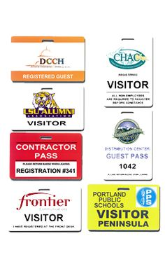 This adhesive backed, self-expiring visitor badge can be printed on using your DYMO LabelWriter or Zebra LP series printer http://www.velocitylabels.com/Badges-for-direct-thermal-printers/Self-Expiring-Badges/Full-Expiring-Adhesive-Badge-Void.html