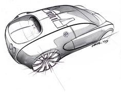 2011 Bugatti Veyron, Bugatti Cars, Industrial Design Sketch, Car Design Sketch, Car Sketch, Ferrari F40, Automobile, Car Drawings, Drawing Sketches