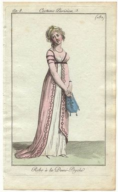 1802 #182 - interesting single bodice piece on the overdress [@Agnes Danyi Gawne -- note the assymetric bodice and skirt. Looks like she's lost a loved one -- or two.]