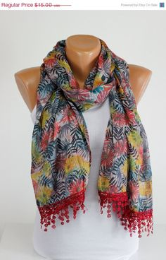 Double Faced, Lace, Scarf, Women Accessories, Women's Scarves, Scarf Fashion, Colorful, Fashion, Shawl, Wrap, Foulard, Guipure Scarf