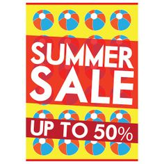 printed summer sale poster design