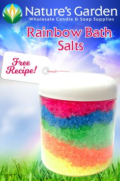 Free Rainbow Bath Salts Recipe by Natures Garden