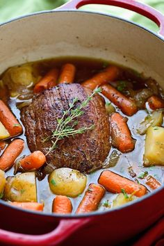 Pot Roast with Carrots and Potatoes - A perfect roast that's loaded with flavor but involves very little work!