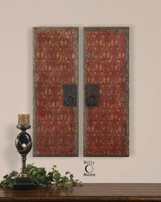 View the Uttermost 35002 Set of 2 Oil Reproduction Door Panel Art Pieces with Metal Handles from the Red Door Panels Collection at Build.com.
