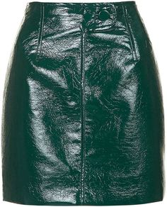 Womens bottle green maida mini skirt by unique from Topshop - £95 at ClothingByColour.com