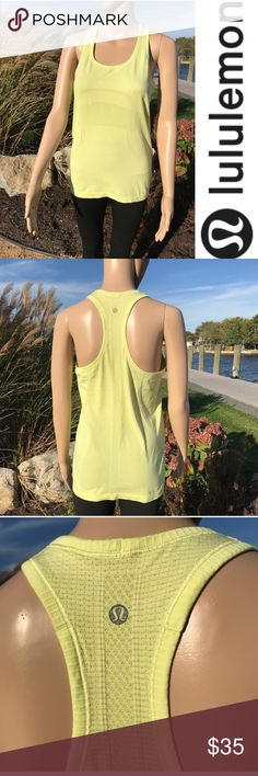 Yellow lululemon athletica racerback tank Yellow lululemon racerback tank top  New without tags  buy 2 items get 3RD HALF OFF , bundle discounts & accepting all reasonable offers #14 lululemon athletica Tops Tank Tops