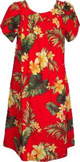 86c4a6042fa RJC Womens Tropical Summer Hibiscus Tea Length Hawaiian Muumuu House Dress  Red from RJC Cyber Monday Black Friday