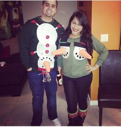 DIY Ugly Christmas Sweater Lol..Me and Micha's Sweaters