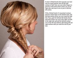 Fishtail up-do