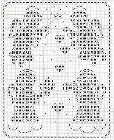 although cross stitch, would make a great filet crochet pattern