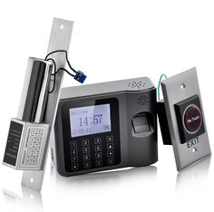 Complete Biometric Time Attendance and Access Control System - Auto Door Lock, Exit Motion Sensor, Central Power for Easy Wiring              http://www.chinavasion.com/CompleteTimeAttendanceAccessControlSyste/