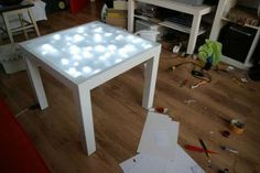 Lighted IKEA Table