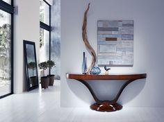 Console VICTORIA designed by Lorenzo Bellini #SELVA #furniture #Console Dining Table Design, Italian Furniture, Modern Interior Design, Table Furniture, Console Table, Modern Contemporary, Entryway Tables, Victoria, Cabinet