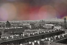Paris Rooftops from Notre Dame 1949  Vegas Lights by eeBeeVintage