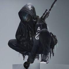 Ready to hunt 🤐 Follow @yoshimitszu . 🎌 Follow #techwf  #techwear #techwearfashion #techwearsociety #streetwearfashion #darkfashion #streetwearculture #streetwearclothing Tactical Wear, Tactical Clothing, Arte Cyberpunk, Cyberpunk Fashion, Character Concept, Character Art, Futuristic Samurai, Dark Fashion, Fashion Looks