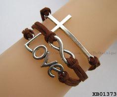 Vintage horizontal cross bracelet,Designer infinity bracelet for men,Fashion love letter bracelet,picture charm bracelet,gift ideas for mom by TheOneUnique, $4.59