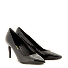 SAINT LAURENT Paris Patent Leather Pumps. #saintlaurent #shoes #pumps