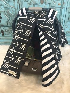 Car seat canopy Black and White by CoveredNLove1 on Etsy https://www.etsy.com/listing/287081081/car-seat-canopy-black-and-white