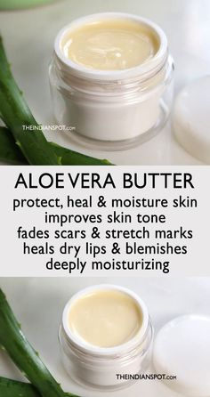 ALOE VERA BUTTER RECIPE - THE INDIAN SPOT Beauty Care, Diy Beauty, Beauty Skin, Beauty Hacks, Luscious Hair, Home Remedies For Hair, Natural Beauty Tips, Belleza Natural, Diy Skin Care